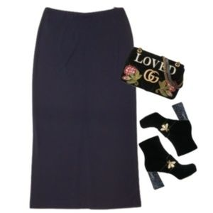 DONNA KARAN signature vintage 90's maxi skirt L